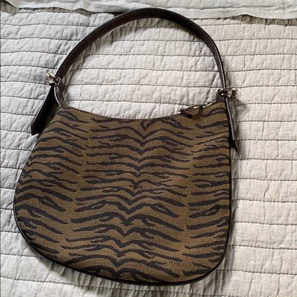 Vintage Fendi print canvas bag
